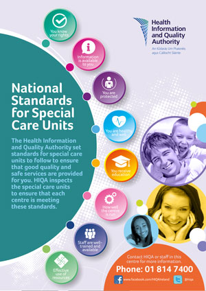 National Standards for Special Care Units poster