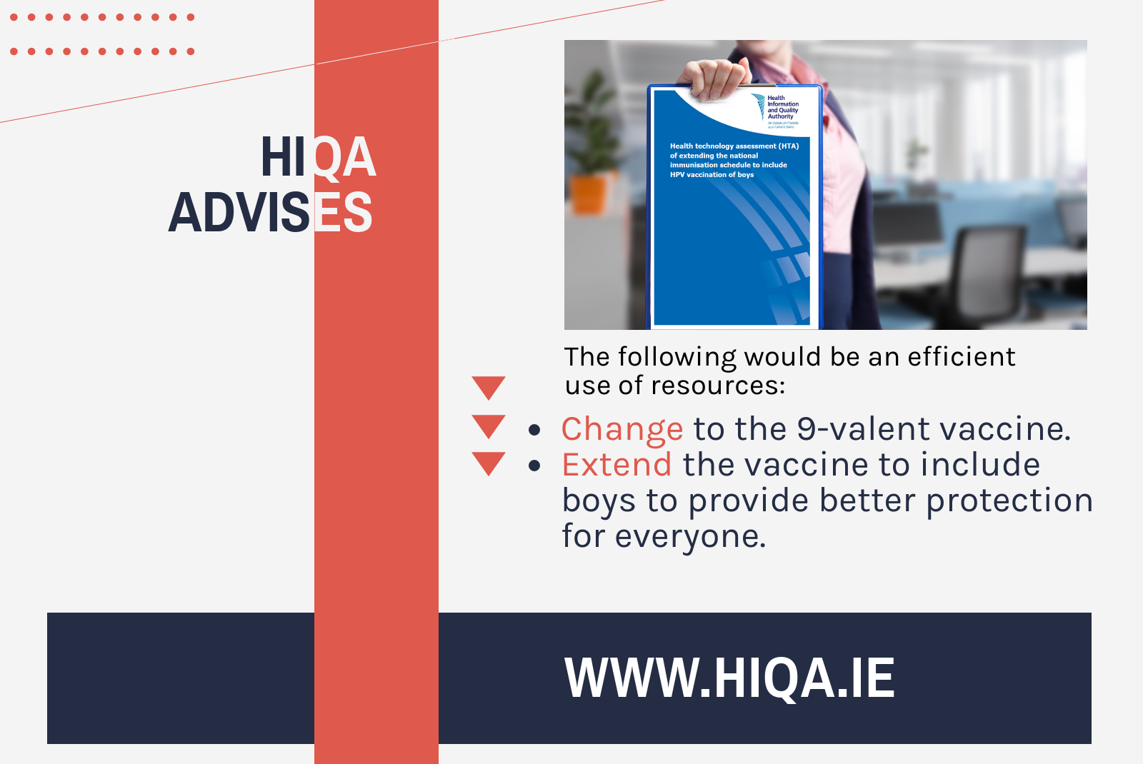 HTA of extending the HPV vaccination to boys | HIQA